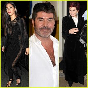 Nicole Scherzinger & Simon Cowell Attend Sharon Osbourne's 64th Birthday Dinner