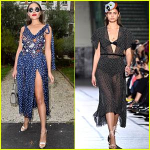 Olivia Culpo Checks Out the Galliano Show During Paris Fashion Week