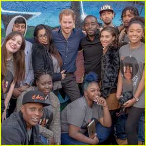 Prince Harry Spends Time With Teens in Nottingham