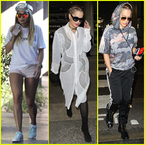 Rita Ora Grabs Sushi for Lunch After Arriving Back in LA