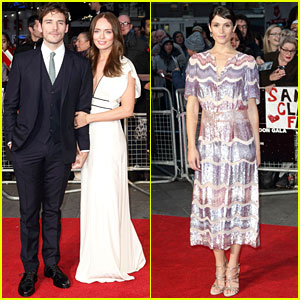 Sam Claflin & Wife Laura Make Cute Couple at 'Their Finest' Premiere