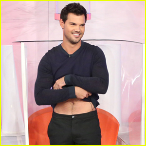 Taylor Lautner Gets Soaked on 'The Ellen Show' For a Good Cause ...