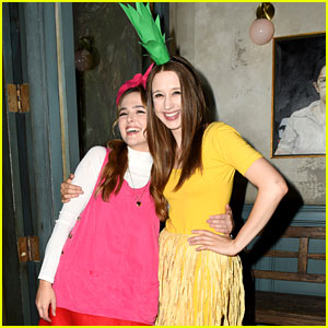 Zoey Deutch & Taissa Farmiga Get Creative for Halloween at Just Jared's Party!