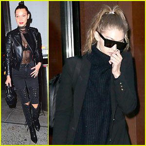 Bella Hadid Goes to UFC Fight, Gigi Leaves NYC