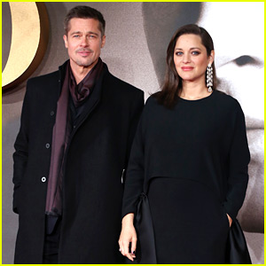 Brad Pitt Takes 'Allied' to London with Pregnant Marion Cotillard