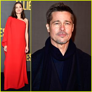 Brad Pitt & Marion Cotillard Continue 'Allied' Press In Paris!