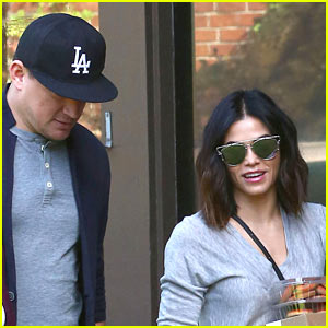 Channing Tatum & Jenna Dewan Tatum Head to a Thanksgiving Party!