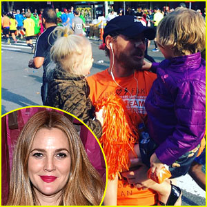 Drew Barrymore & Daughters Support Dad Will Kopelman at NYC Marathon!