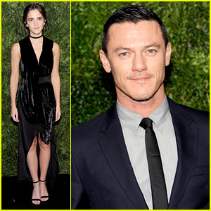 Emma Watson & Her Gaston, Luke Evans, Have a Fashionable Night at MoMA Film Benefit!