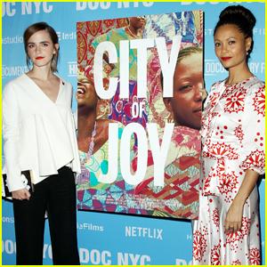 Emma Watson & Thandie Newton Show Their Support at 'City of Joy' Premiere