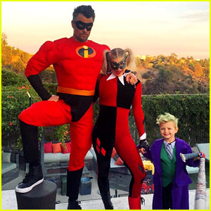 Fergie & Son Axl Dress Up as Jokers for Halloween!