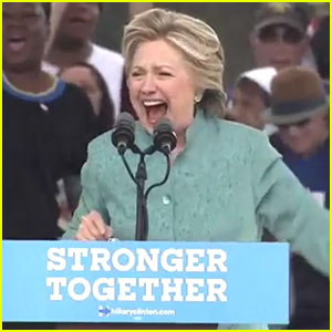 Hillary Clinton Speaks in Pouring Rain at Florida Rally!