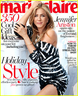 Jennifer Aniston Gushes About Hubby Justin Theroux in 'Marie Claire'