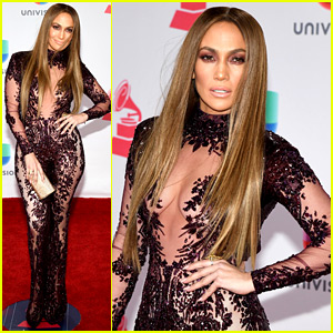 Jennifer Lopez Wows in Sexy Sheer Jumpsuit at Latin Grammys