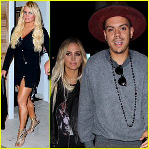 Jessica & Ashlee Simpson Go On Date Nights with Their Guys
