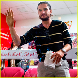 Kit Harington, Emilia Clarke & 'Game Of Thrones' Cast Cheer On Sevilla At Football Match!