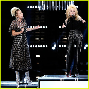 VIDEO: Miley Cyrus & Godmother Dolly Parton Sing 'Jolene' Live on 'The Voice' with Pentatonix!