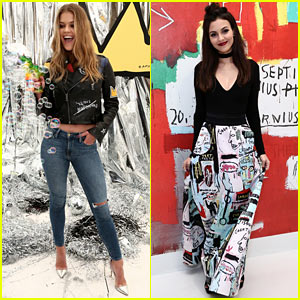 Nina Agdal & Victoria Justice Get Creative at Alice + Olivia Launch Party!
