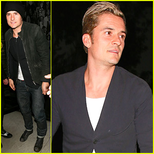 Orlando Bloom Keeps His Blond Locks Covered for Night Out