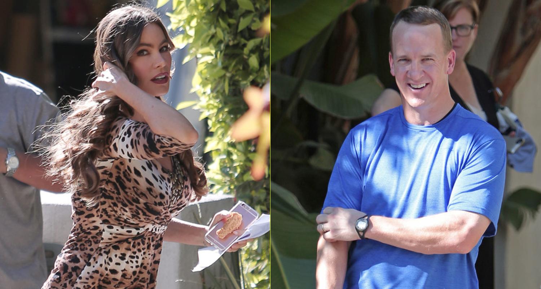 Peyton Manning Joins Sofia Vergara on 'Modern Family' Set