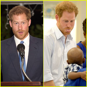 Prince Harry Continues Caribbean Tour, Visits Children's Home