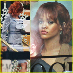 Rihanna Starts Work on 'Bates Motel' - See the First Set Photos!