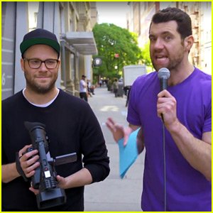 VIDEO: Billy Eichner Convinces People That Seth Rogen is Dead... While He is Standing There!