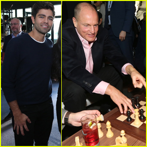 Woody Harrelson Gets Some Practice in at World Chess Championship
