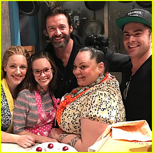 Zac Efron & Hugh Jackman Check Out 'Waitress' on Broadway!