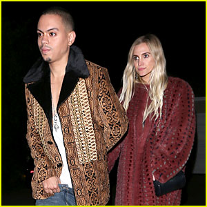 Ashlee Simpson & Evan Ross Wear Their Statement Coats to Jennifer Klein's Annual Holiday Party