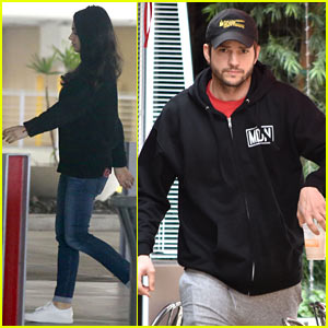 Ashton Kutcher & Mila Kunis Step Out for Post-Christmas Breakfast