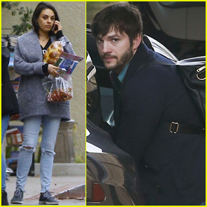 Ashton Kutcher & Mila Kunis Spend New Year's Eve With Wyatt & Dimitri
