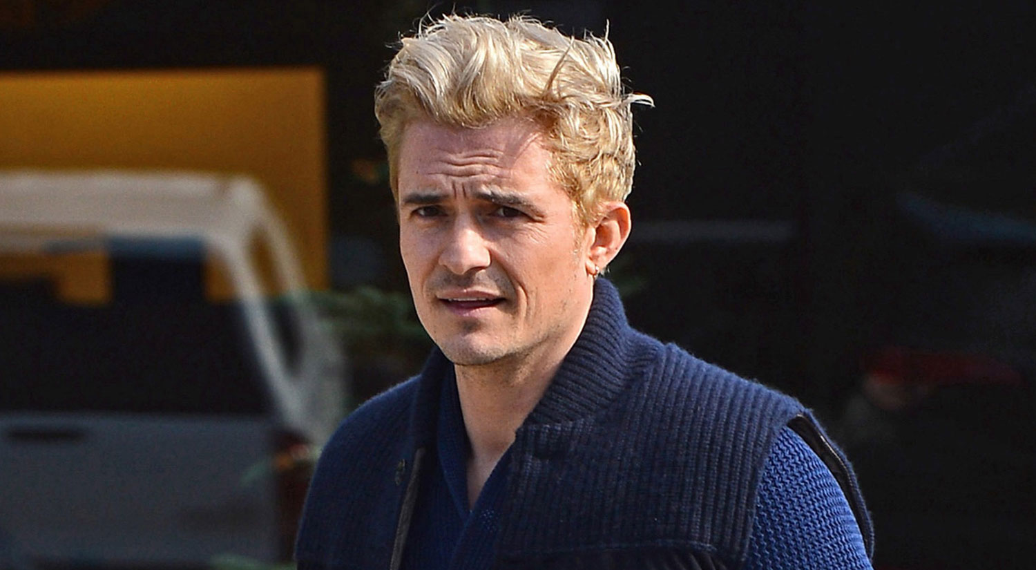 Orlando Bloom Gets Another Touch Up On His Blond Hair Orlando