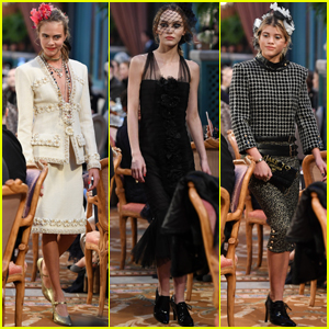 Cara Delevingne Returns to 'Chanel' Runway With Lily-Rose Depp & Sofia Richie