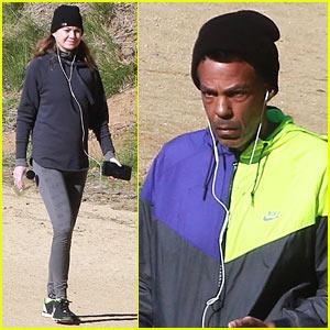 Ellen Pompeo & Husband Chris Ivery Enjoy Hiking Trip in Los Feliz