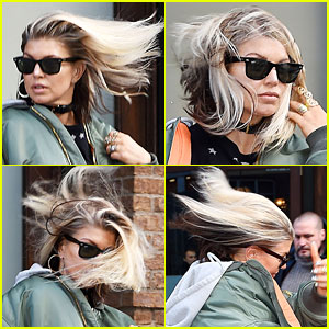Fergie Loses Battle with the NYC Wind, But Still Looks Great!