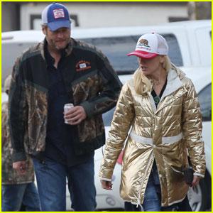 Blake Shelton & Gwen Stefani Couple Up in Lake Arrowhead
