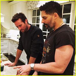 Joe Manganiello Heats Up the Kitchen with Pal Armie Hammer!