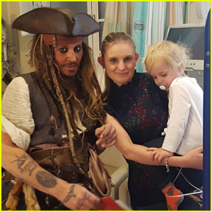 Johnny Depp Visits Children's Hospital Dressed as Jack Sparrow!