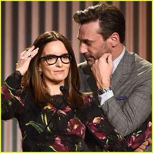 Tina Fey Thinks Jon Hamm is Trumping Her at 'THR' Event!