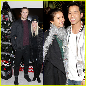 Julianne Hough & Nina Dobrev Get Into the Holiday Spirit with a Darth Vader Christmas Tree!