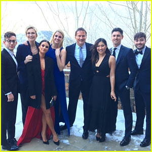 Lea Michele Has Mini 'Glee' Reunion at Becca Tobin's Wedding!