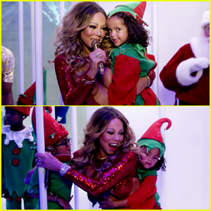 Mariah Carey's Kids Monroe & Moroccan Are Adorable Elves In 'Here Comes Santa Claus' Music Video - Watch Here!