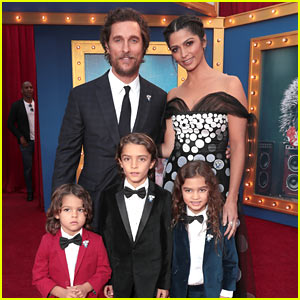 Matthew McConaughey & Camila Alves Bring Their Kids to 'Sing' Premiere!