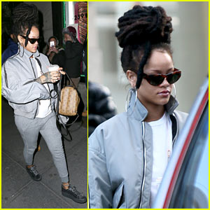 Rihanna Arrives to 'Ocean's Eight' Set in Her Fenty x Puma Velvet Creepers!