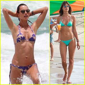 Alessandra Ambrosio Makes a Splash in Another Sexy Bikini