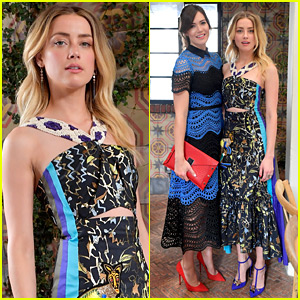 Amber Heard Joins Golden Globe Nom Mandy Moore at W Mag's It Girl Luncheon!