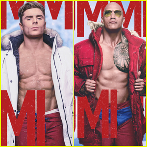 Zac Efron & Dwayne Johnson Go Shirtless in New 'Baywatch' Posters