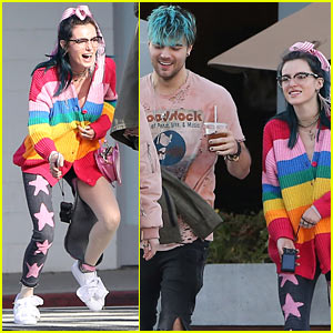 Bella Thorne Jumps for Joy While Hanging With Musician Josh Golden