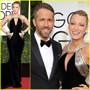 Ryan Reynolds Gets Support from Wife Blake Lively at Golden Globes 2017!